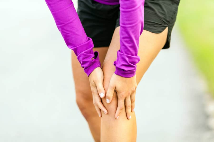 Schleimbeutelentzündung am Knie